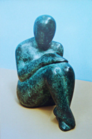 Thinking woman - bronze